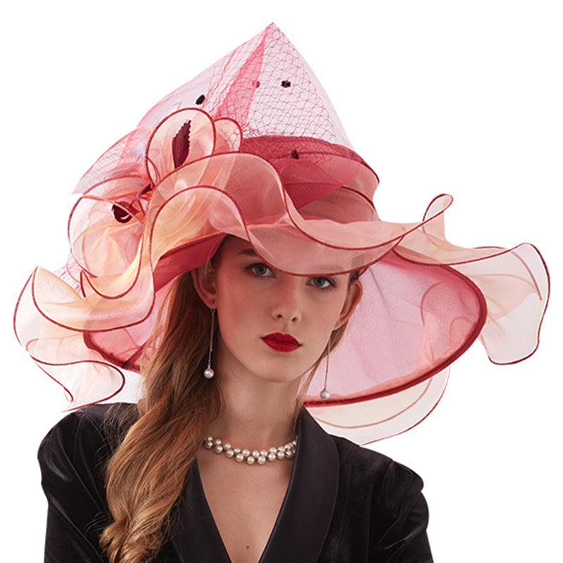 Tea Party Church Organza Hat - Itopfox