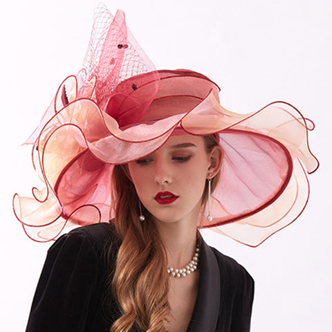 Image of Tea Party Church Organza Hat - Itopfox