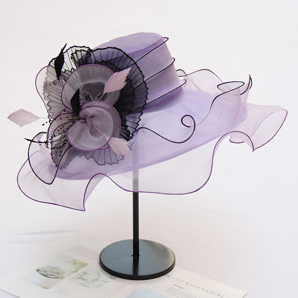 2-In-1 Fascinator Gauze Church Hat