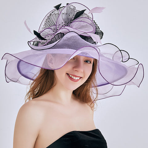 Image of 2-In-1 Fascinator Gauze Church Hat