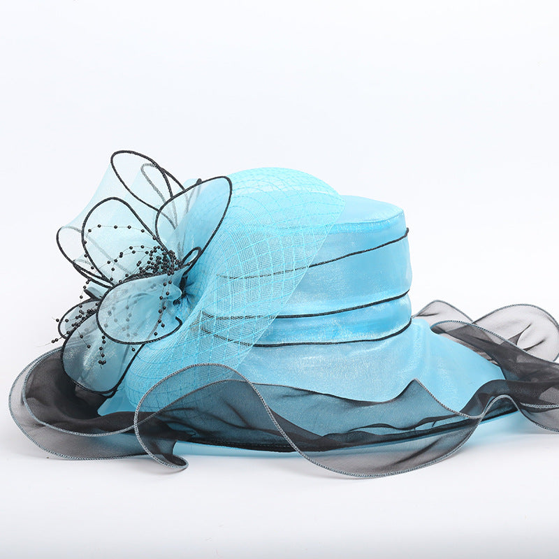 Organza Floppy Kentucky Derby Hat - Itopfox