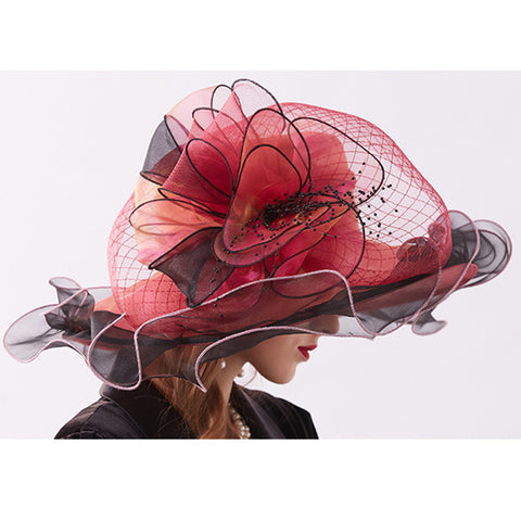 Image of Organza Floppy Kentucky Derby Hat - Itopfox