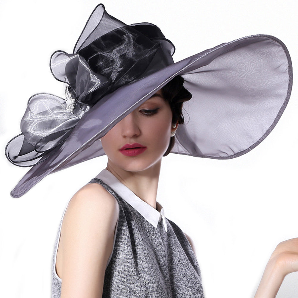 Organza Extra Large Kentucky Derby Hat - Itopfox
