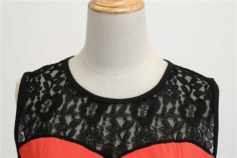 1950's Lace Vintage Cocktail Party Dress - Itopfox