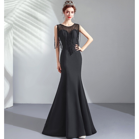 Image of Tassels Bodycon Evening Gown - Itopfox