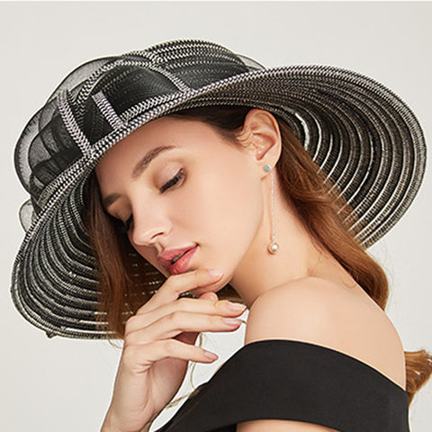 Organza Kentucky Derby Cloche Hat - Itopfox
