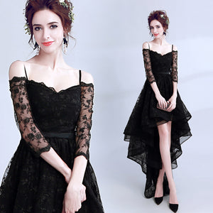 Half Sleeve Lace Cocktail Dress - Itopfox