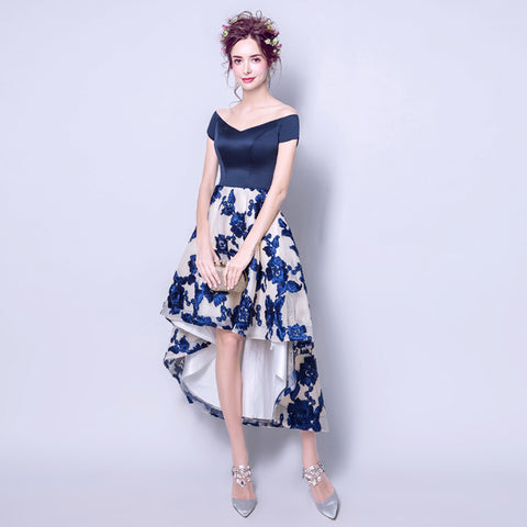Image of Irregular Hem Banquet Cocktail Dress - Itopfox