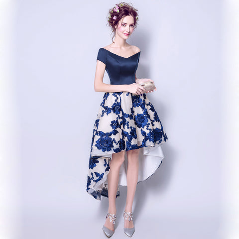 Irregular Hem Banquet Cocktail Dress - Itopfox