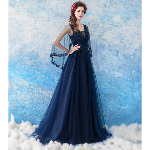 Image of Double V-Neck Maxi Prom Dress - Itopfox