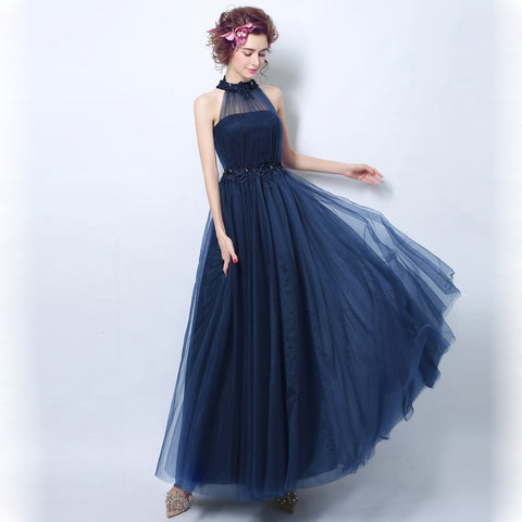 Image of Halter Off Shoulder Maxi Full Dress - Itopfox