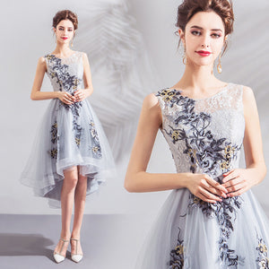Irregular Hem Midi Homecoming Dress - Itopfox