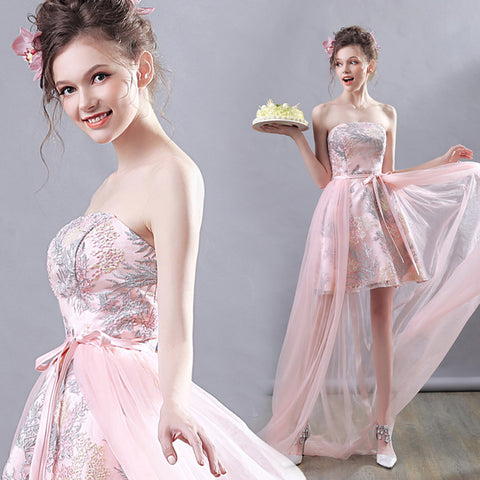 Image of Strapless Fish Tail Prom Dress - Itopfox