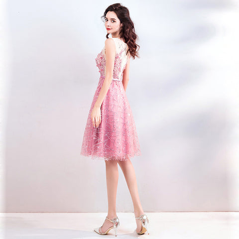 Image of Sleeveless Paillettes Homecoming Dress - Itopfox