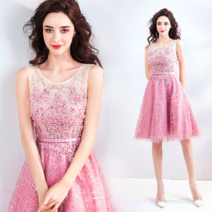 Sleeveless Paillettes Homecoming Dress - Itopfox