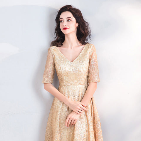 Image of Half Sleeve Cocktail Dress - Itopfox