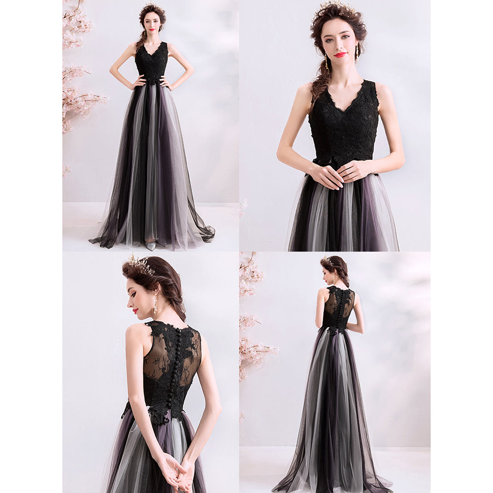 Sleeveless Chiffon Prom Dress - Itopfox