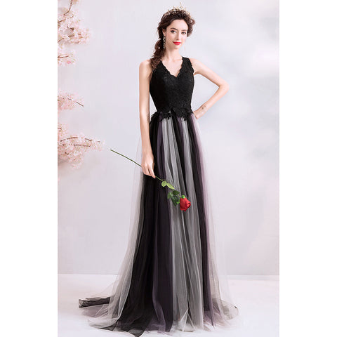 Image of Sleeveless Chiffon Prom Dress - Itopfox
