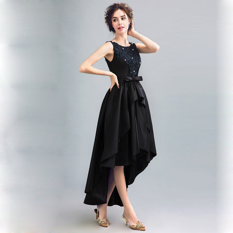 Image of Bowknot Tunic Irregular Hem Dress - Itopfox
