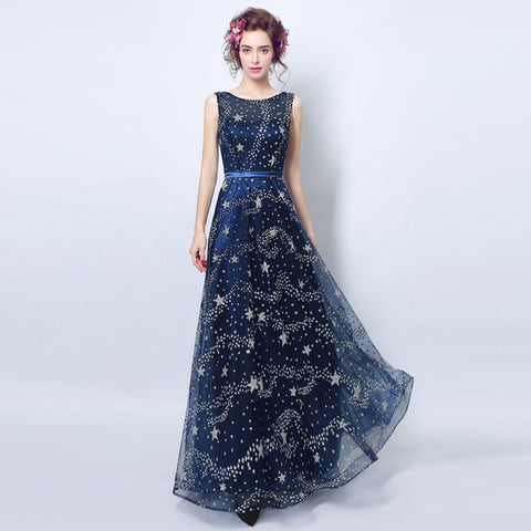 Image of Starry Maxi Chiffon Dress - Itopfox
