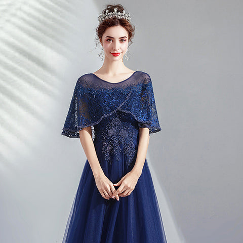 Lace Beads Maxi Prom Dress - Itopfox