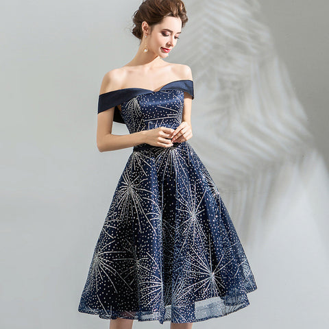 Starry A-Line Midi Dress - Itopfox