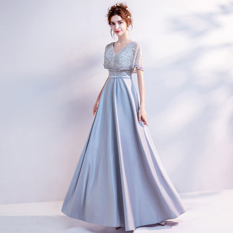 Image of Tunic Maxi Bridesmaid Dress - Itopfox