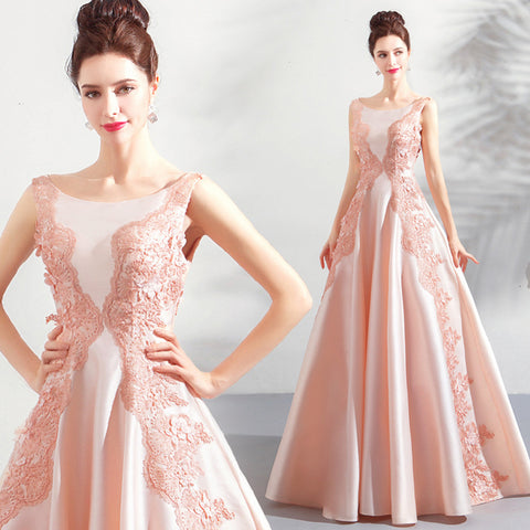 Image of Lace Embroidery Full Dress - Itopfox