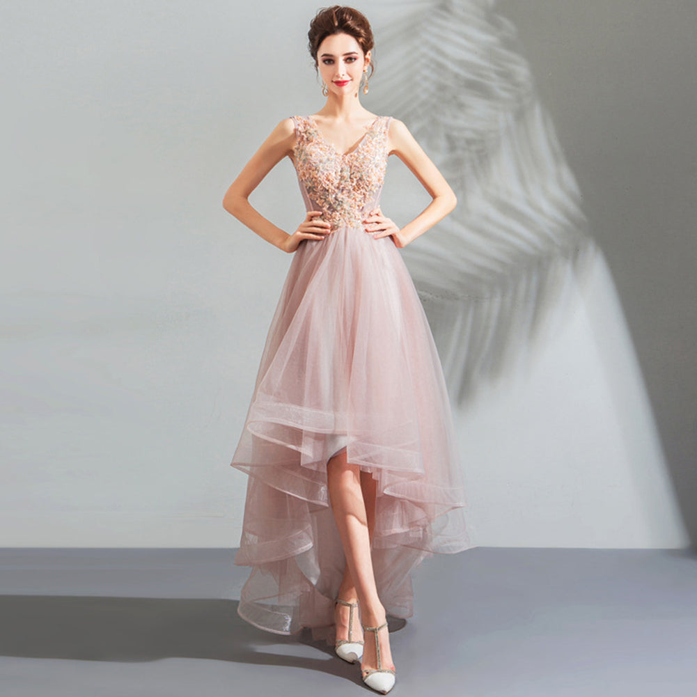 Irregular Chiffon Prom Dress - Itopfox