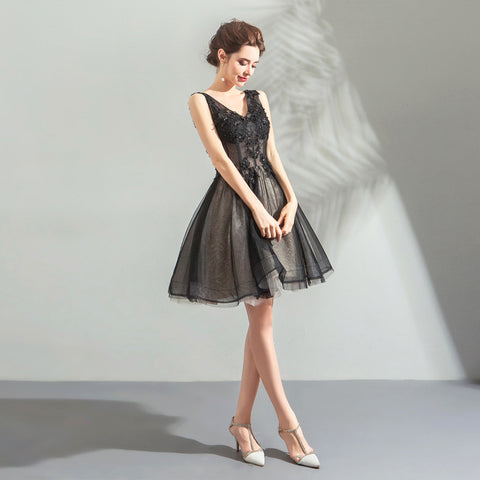 Image of V-Neck Chiffon Homecoming Dress - Itopfox