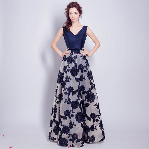 Image of V-Neck Floral Chiffon Dress - Itopfox