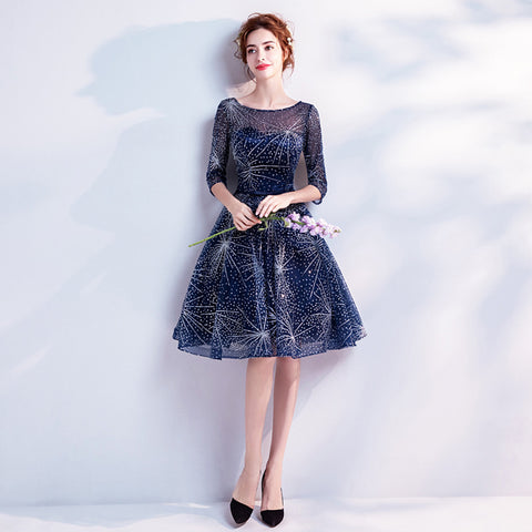Image of Starry Half Sleeve Midi Dress - Itopfox