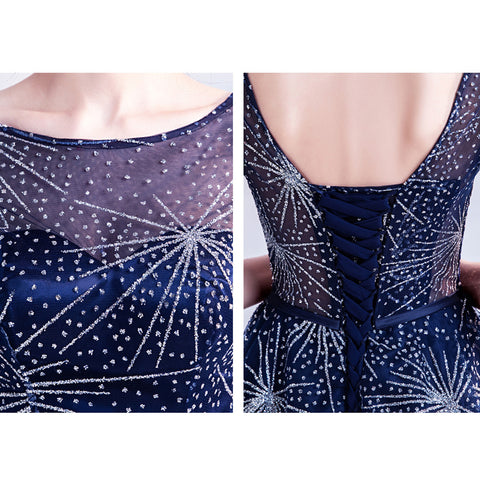 Starry Half Sleeve Midi Dress - Itopfox