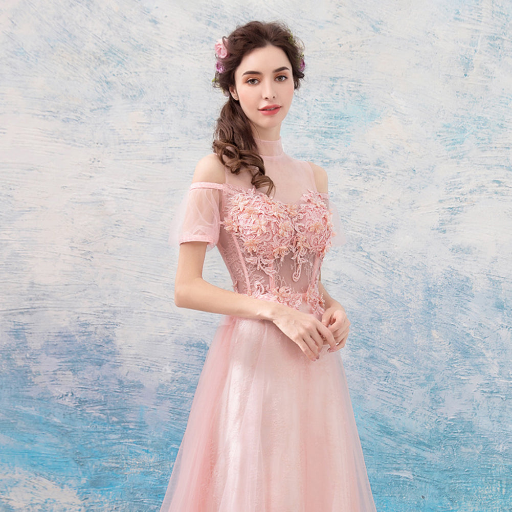 Beading Off Shoulder Full Dress - Itopfox