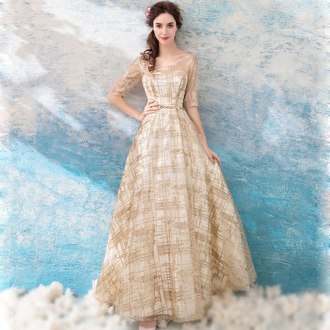 Image of Half Sleeve Chiffon Full Dress - Itopfox