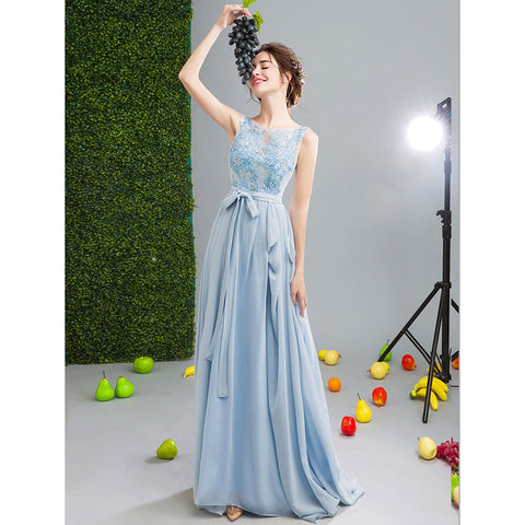 Image of Sleeveless Backless Tunic Prom Dress - Itopfox
