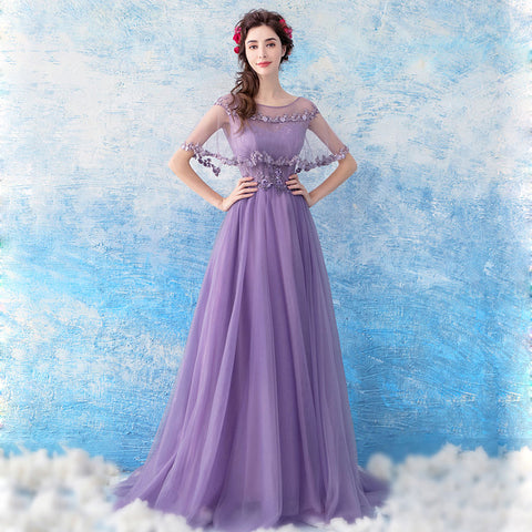 Tunic Maxi Length Prom Dress - Itopfox