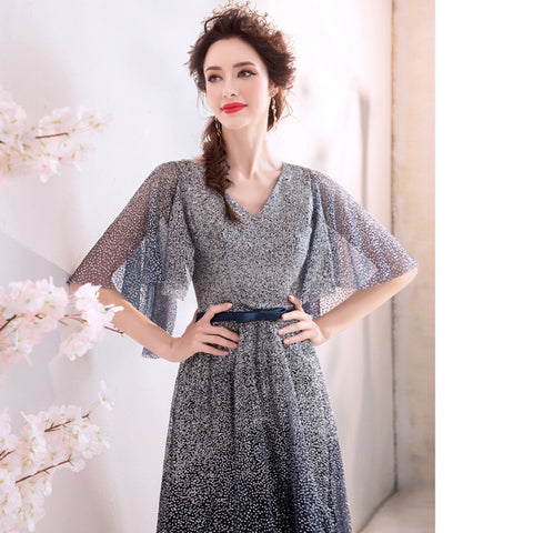 Image of Starry Butterfly Sleeve Maxi Dress - Itopfox