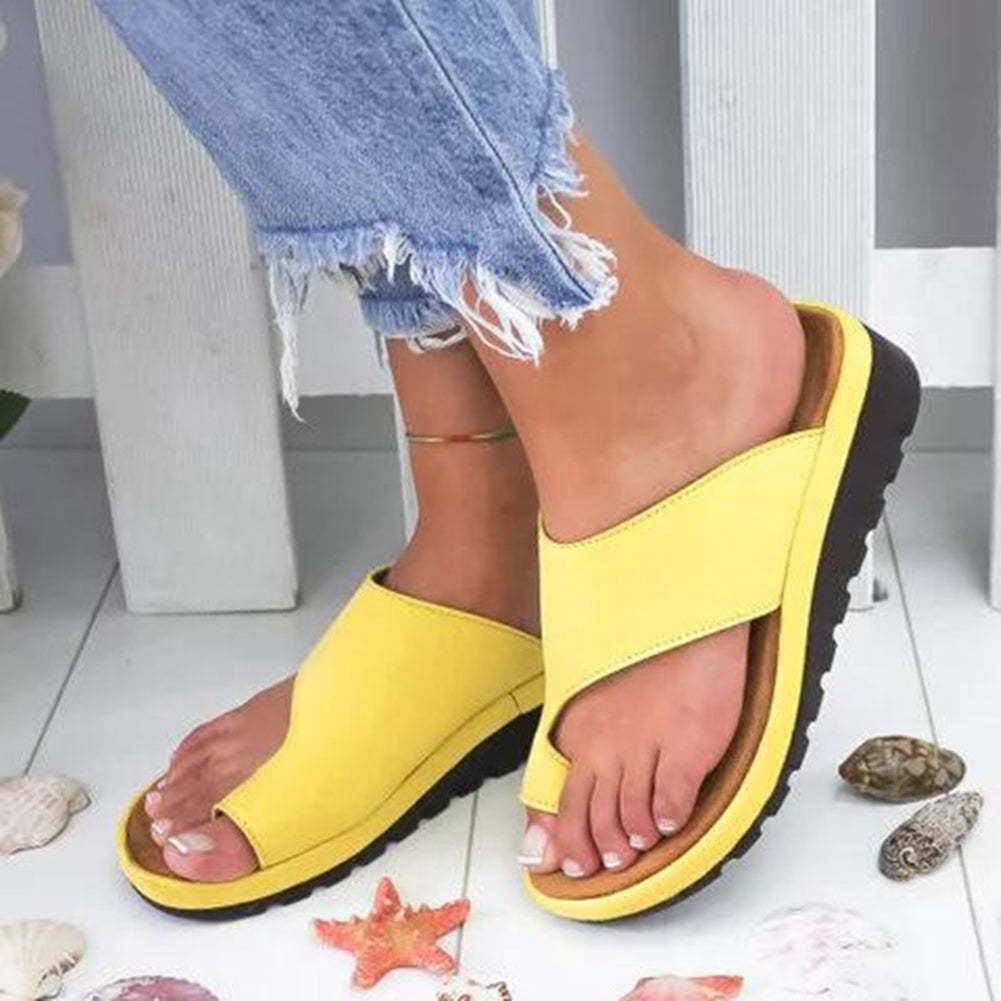 Platform Open Toe Slipper Sandals - Itopfox