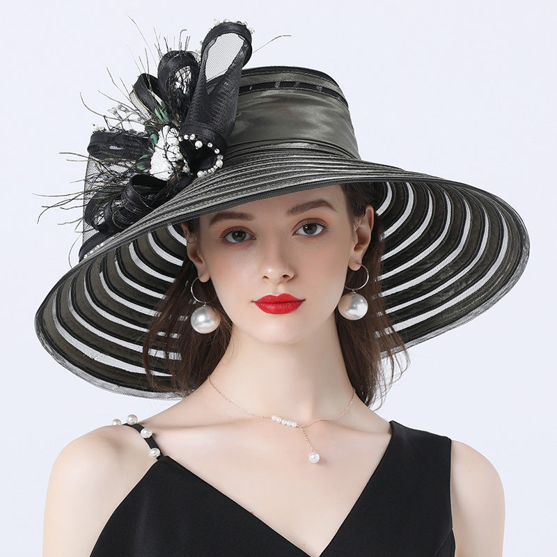 Wide Brim Church Tea Party Hat
