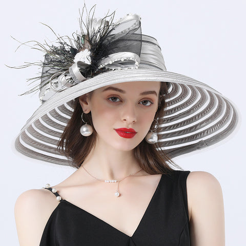 Image of Wide Brim Church Tea Party Hat