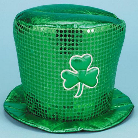 Image of St. Patrick's Day Green Clover Hat