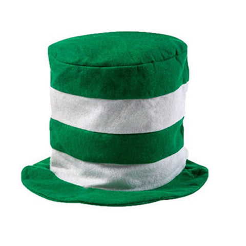 Image of St. Patrick's Day Striped Felt Hat