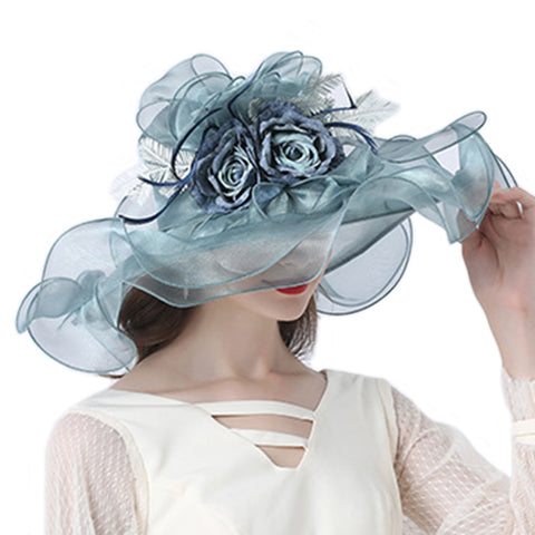 Image of Floral Organza Kentucky Derby Hat