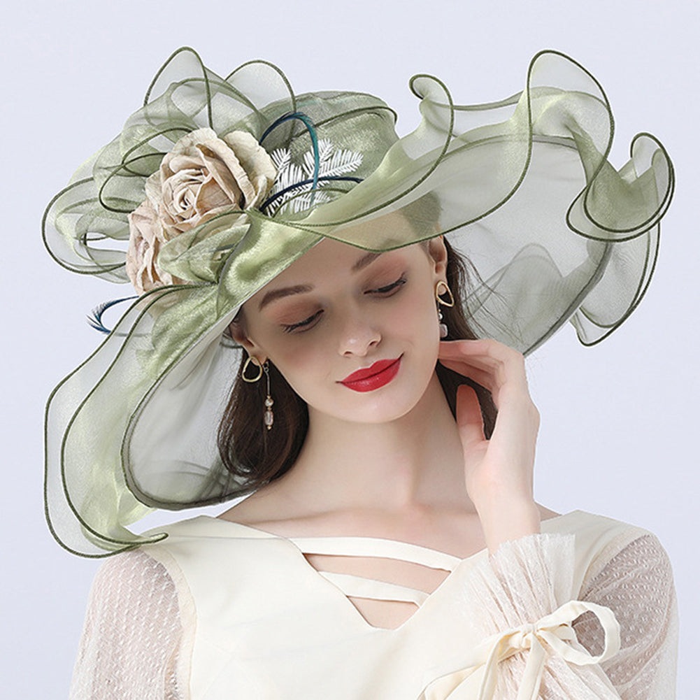 Floral Organza Kentucky Derby Hat