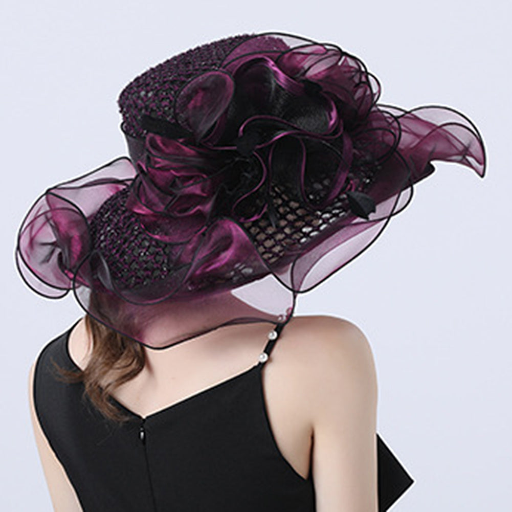 Floral Layered Church Hat For Women