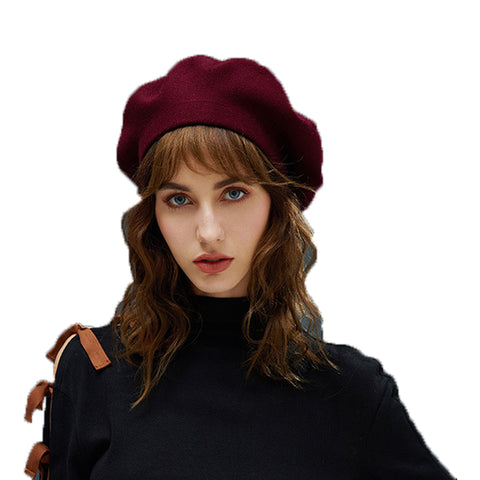 Image of Winter Stylish Beret Hat - Itopfox