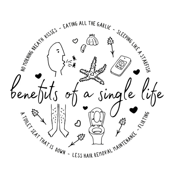 Benefits of a Single Life Print (A4)