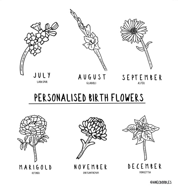 Personalised Birth Flower