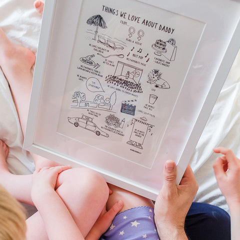 Things We Love About Daddy (unframed)